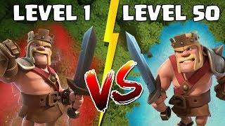 KÖNIG - Level 1 vs Level 50! ☆ Clash of Clans