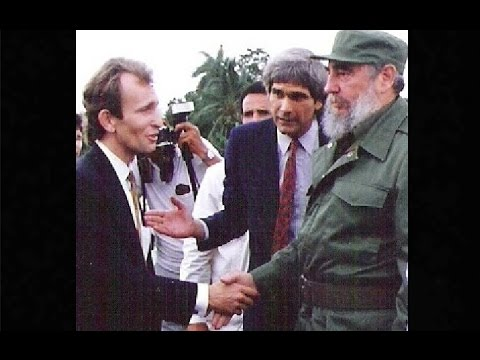 Fidel Castro visits the ORBIS Flying Eye Hospital, Havana, 1991