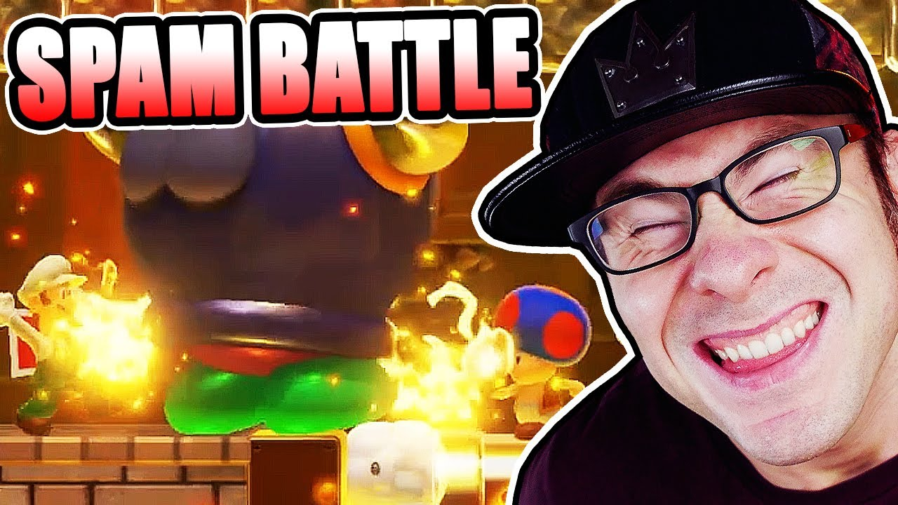 Versus SPAM Battle Level in Mario Maker 2
