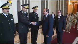 الرئيس عبد الفتاح السيسي  يزور مقر وزارة الداخلية - 14/3/2018