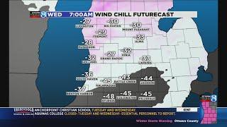 Polar vortex takes aim at West Michigan