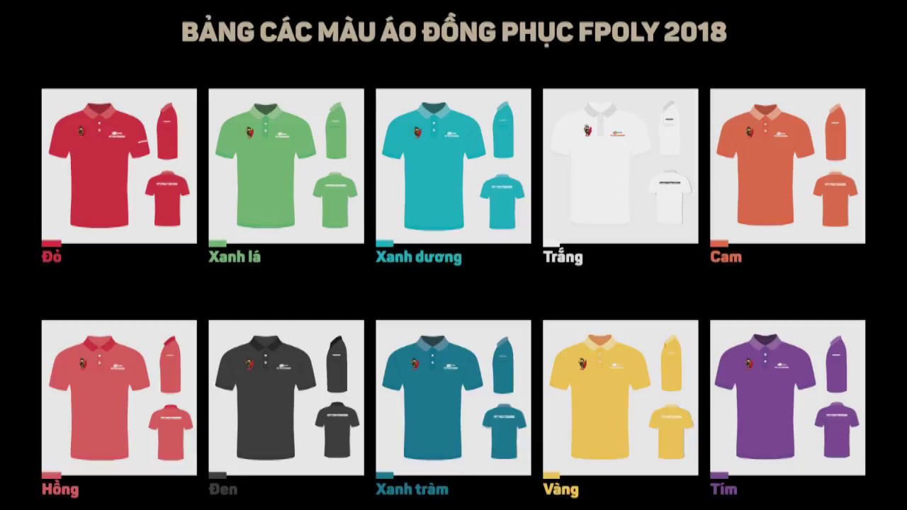 Bình chọn màu áo đồng phục cho Tân sinh viên FPT Polytechnic 2018