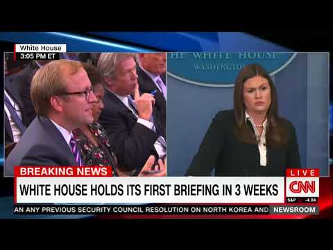 White House press secretary Sanders has no answers for Trump's border wall flip-flop