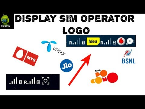 How To Display SIM Operator Logo In Mobile || Mobile Network||SIM Operator Logo In Android Mobile