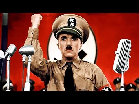 Великий диктатор. Пародия на Гитлера. Чарли Чаплин 1940