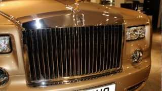 £1.3 Million Gold 2013 Rolls-Royce Phantom Custom Order With Gold Spirit Of Ecstasy