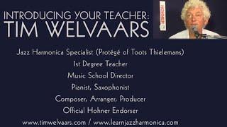 TIMS TINY TUNES 1: Jazz harmonica licks I Play along - level 1, beginner, gospel-swing, G7
