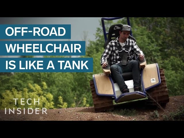 Off-Road Wheelchair Can Drive On Any Surface