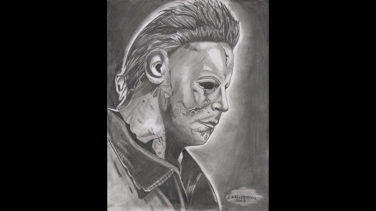 Dibujando a Michael Myers Hallowen - YouTube