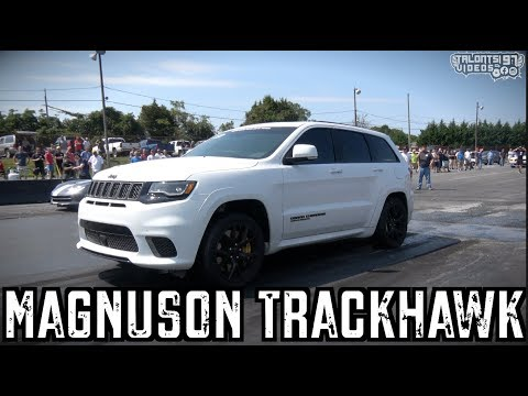 Magnuson Blown Trackhawk Pushing For 9s BOOST ONLY