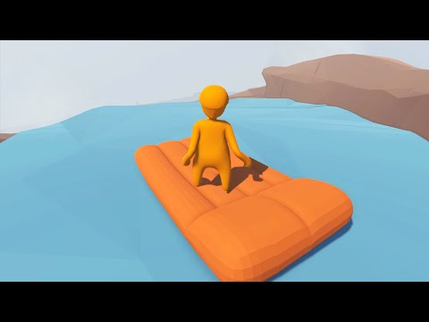 GOING DOWN THE WATERFALL! (Human Fall Flat)
