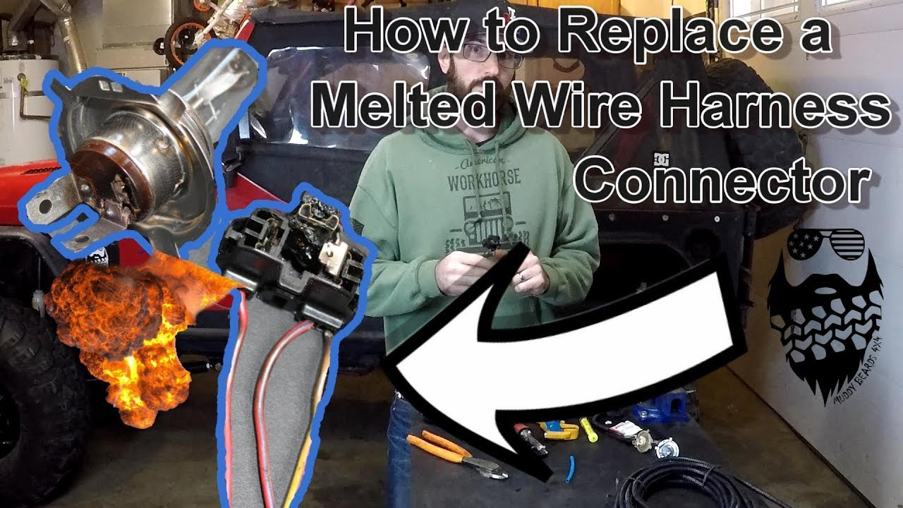 medium resolution of how to replace a melted wire harness connector