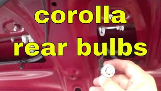 How to replace license plate and tail light bulb Toyota Corolla
