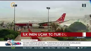 3. Havalimanına inecek ilk uçakta Cumhurbaşkanı Erdoğan olacak