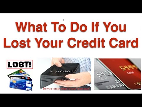 What To Do If You Lost Your Credit Card