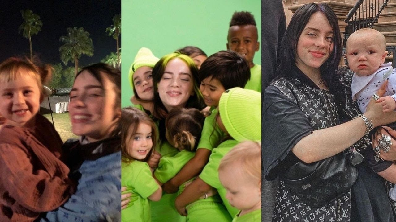 BILLIE EILISH WITH BABIES AND KIDS