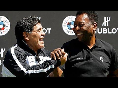 Euro 2016: Pele and Maradona coach charity match in Paris - sport