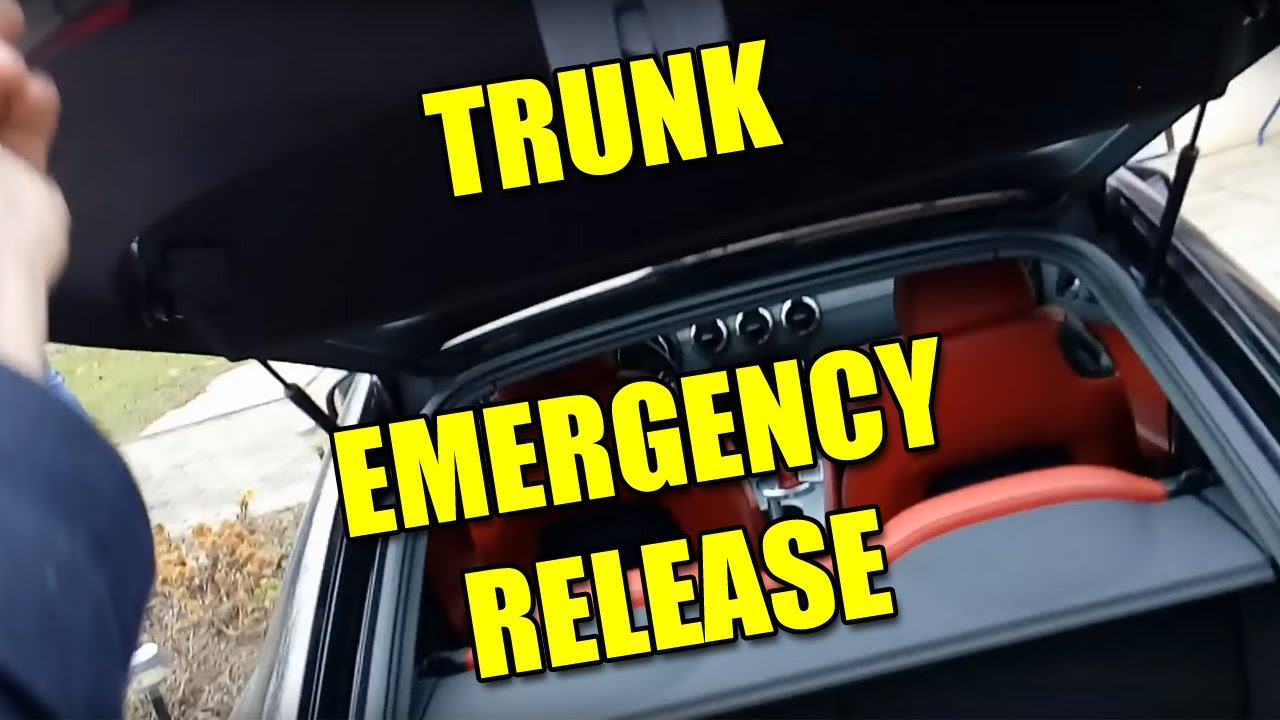 How To Open Trunk With Emergency Release On Audi Tt Mk2