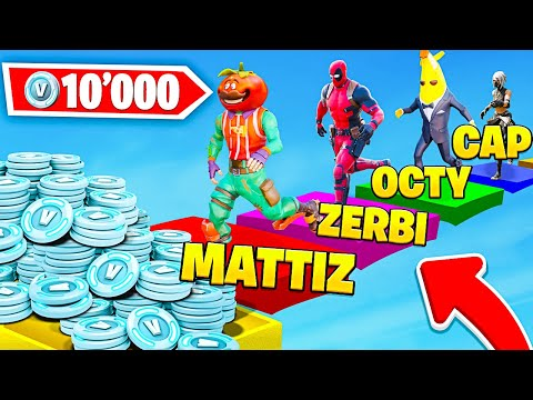 CHI ARRIVA PRIMO VINCE 10.000 V-BUCKS CHALLENGE!! Con CAP, ZERBI E OCTY - Fortnite ITA
