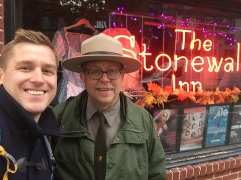 Mikah Meyer visits Stonewall National Monument - NYC News Coverage