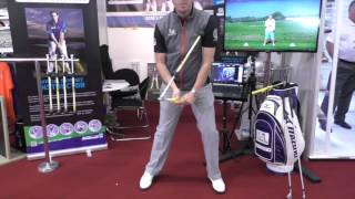 Sure-Set golf trade show demonstration 2015