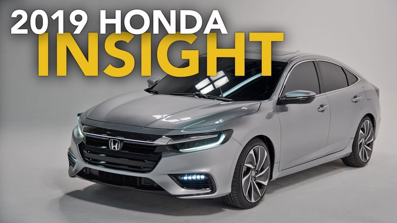 2019 Honda Insight Hybrid First Look 2018 Detroit Auto Show Youtube