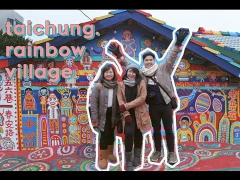 TAIWAN VLOG: Day 4   High Speed Rail to Taichung and Rainbow Village