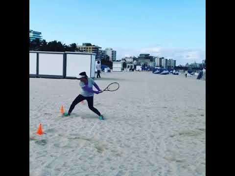 Pre season with Kamilla Kokelazde Tennis player (Russia) by Duglas Cordero