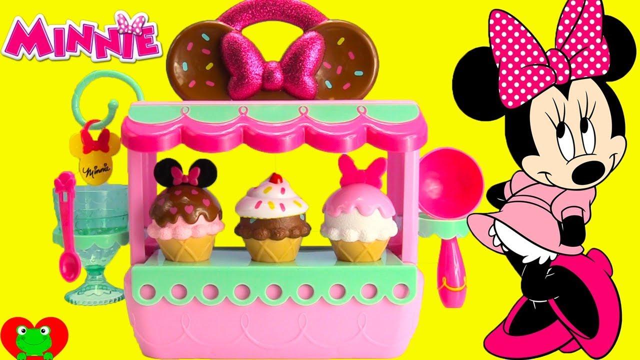 minnie mouse ice cream shop surprises youtube