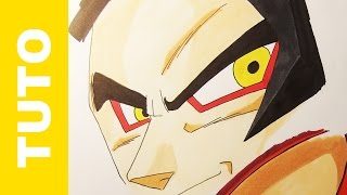Comment dessiner les yeux de Goku SUPER SAIYAN 4 Dragon Ball GT