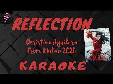 REFLECTION - Christina Aguilera (From Mulan 2020) KARAOKE VERSION    Lyrics On Screen