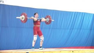 Мезенцев Алексей, 14 лет, вк 77 Толчок 86 кг 3 подход Победа!