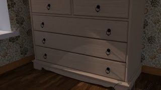 Making Dresser/commode In Google Sketchup + Render ( Vray )