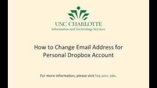 How to Change the Email Address Used with Dropbox