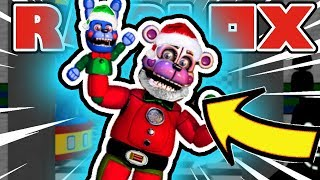 Becoming Pirate Foxy and Santa Freddy Fazbear in Roblox Nightmares at Freddy's 4 RP