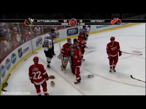 Red Wings Vs Penguins End Of Game Scrap 05/26/08