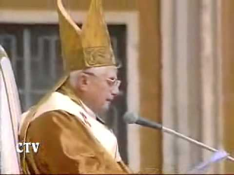 Ceremony of Papal Inauguration of Pope Benedict XVI [24.04.2005]