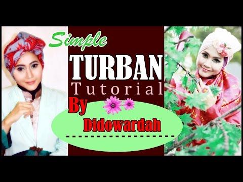 Model Jilbab Segi Empat Turban Simple by Didowardah #55