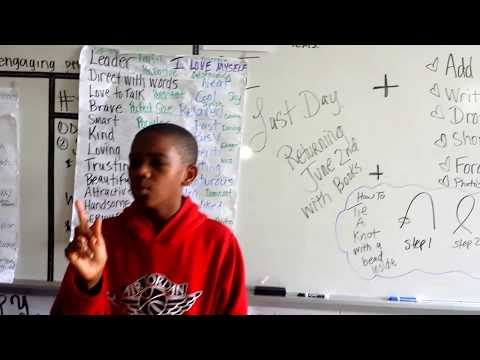 Pencil Taping & Singing with Ricky at Neal Middle School in Durham, NC