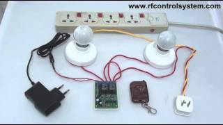2 Channel DC RF Remote Control Momentary On Off Switch