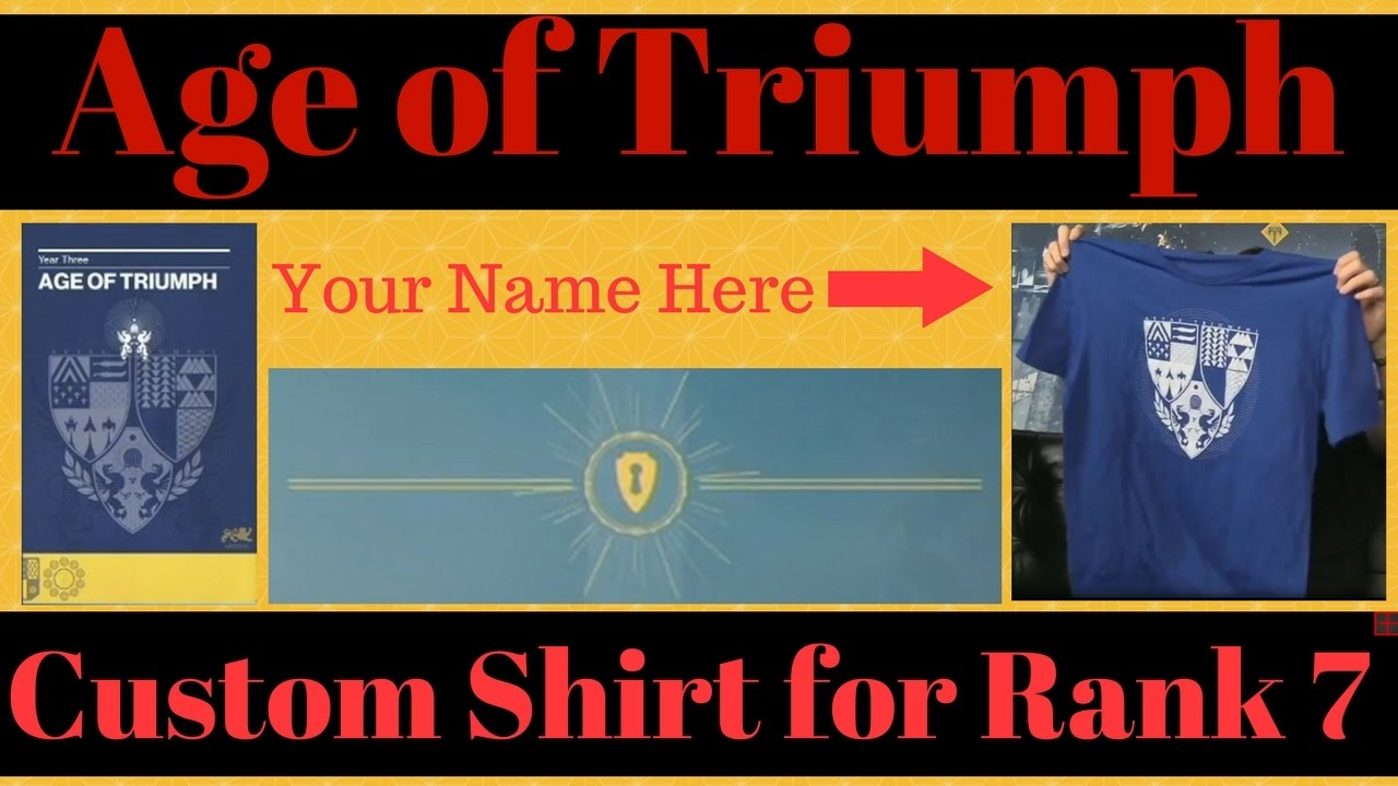 destiny age of triumph custom shirt unlocks at rank 7 in the
