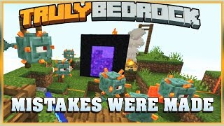 Truly Bedrock S1 E32 Guardian Farm Part 2... Mistakes were made (MCPE,MCBE)