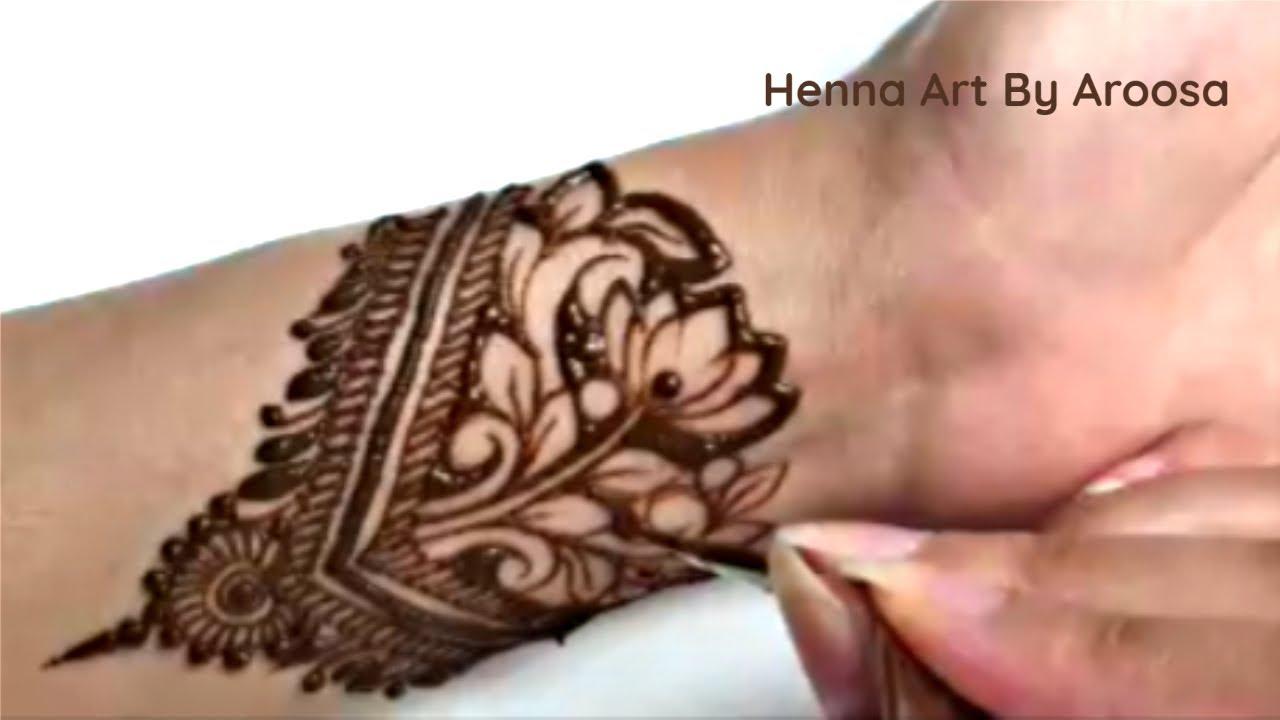 Front hand Intricate Stylish henna design | Beautiful Mehendi