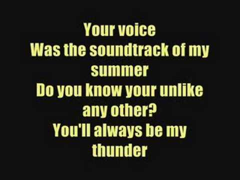Thunder - Boys Like Girls - Lyrics