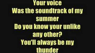 Thunder - Boys Like Girls - Lyrics