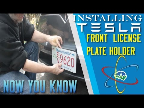 How to Install 'The Law' Front Model X License Plate Holder