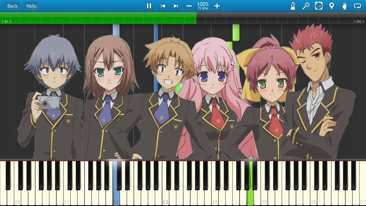 Baka No Test otome tachi no inori | baka to test to shoukanjuu ost | piano