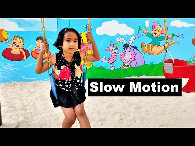 Slow Motion Video by Pari  | playing at Park | LearnWithPari