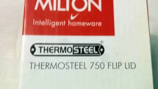 Milton Thermosteel Flip Lid Flask, 1000ml, Silver (EC-TMS-FIS-0058_Silver. Unboxing