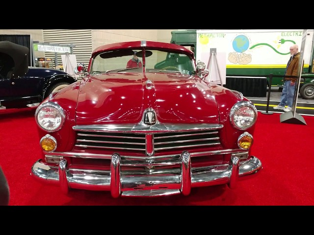 1949 RED HUDSON COMMODORE CONVERTIBLE @ PHILADELPHIA CONVENTION CENTER CAR SHOW